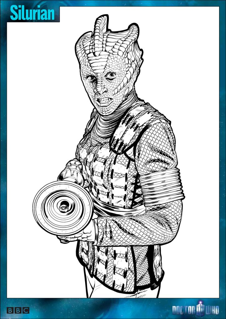 free dr who coloring pages - photo#24