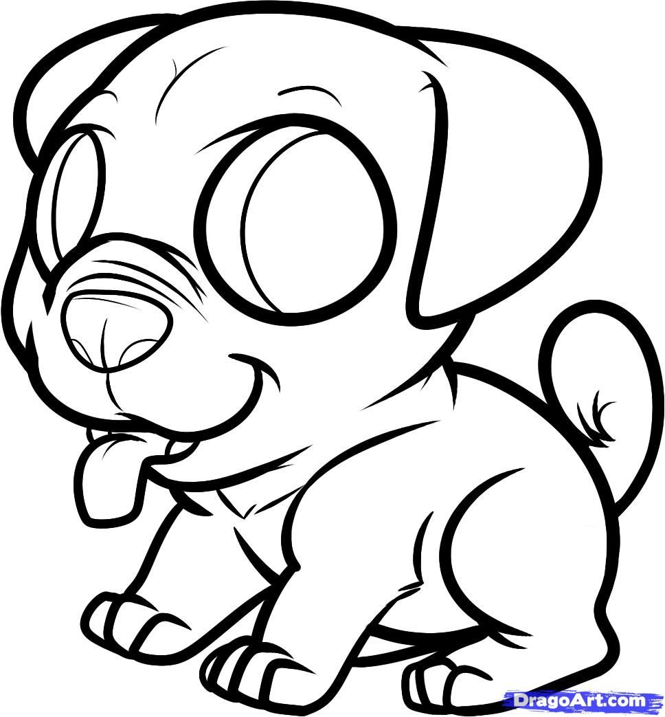 Printable Pug Coloring Pages