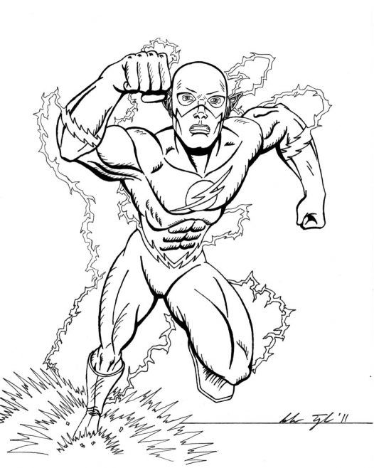 dc flash coloring pages - photo#10