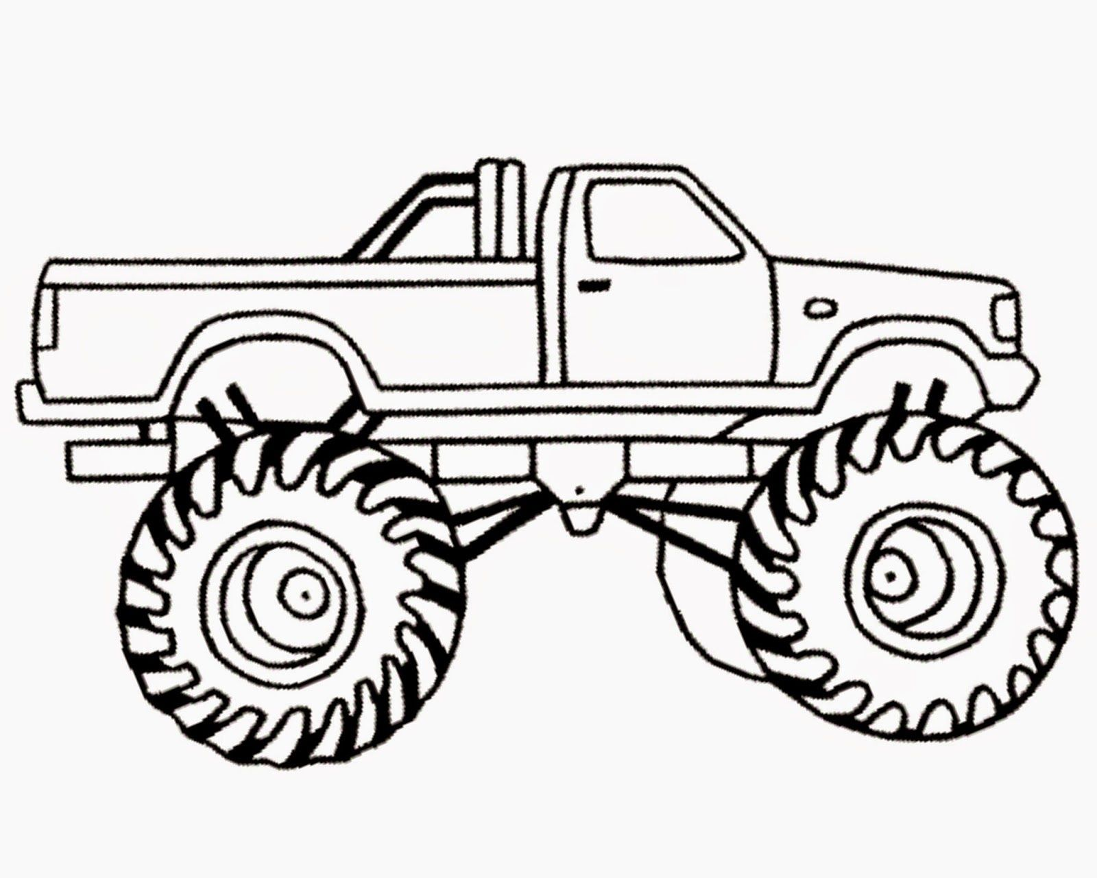 monster truck coloring pages for kids - monster jam coloring page coloring home