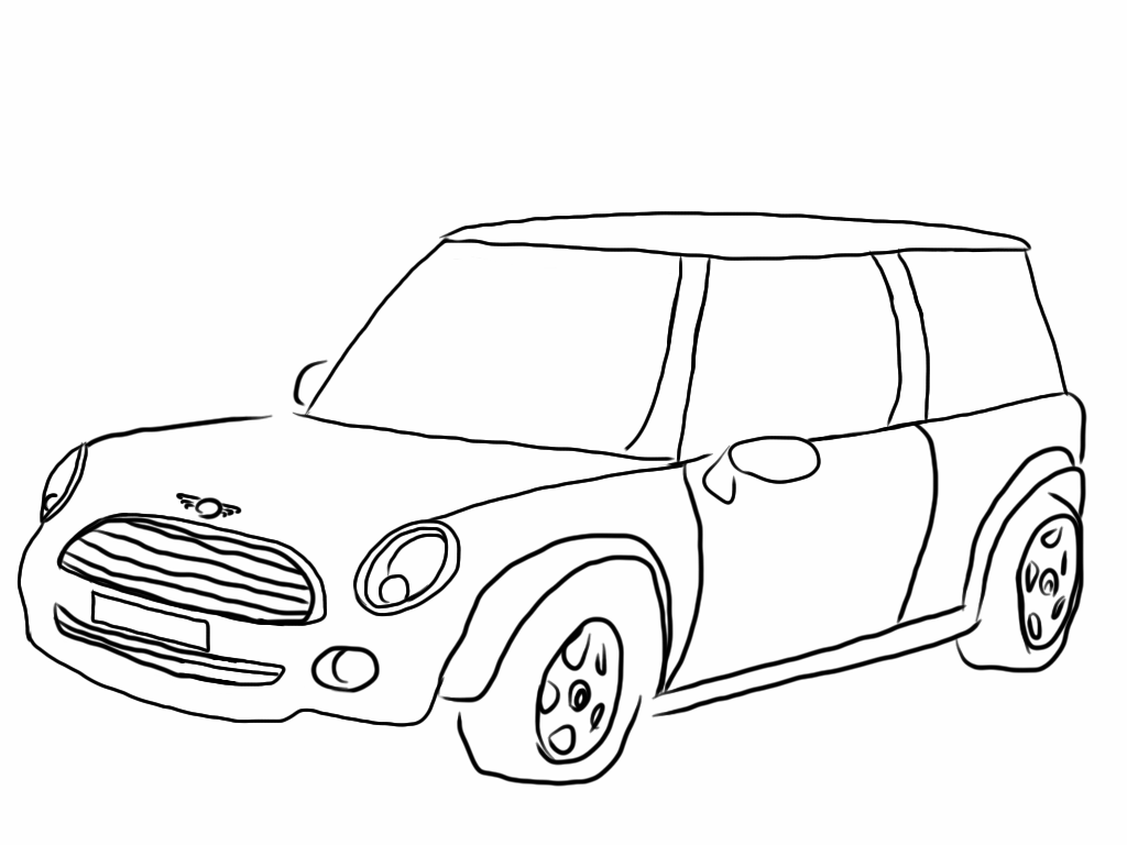 mini cooper coloring pages