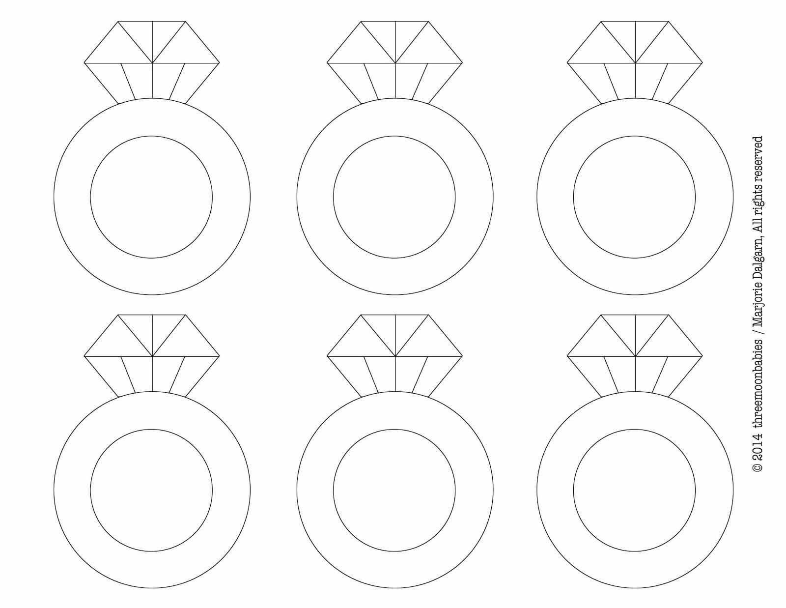 ring template printable coloring home