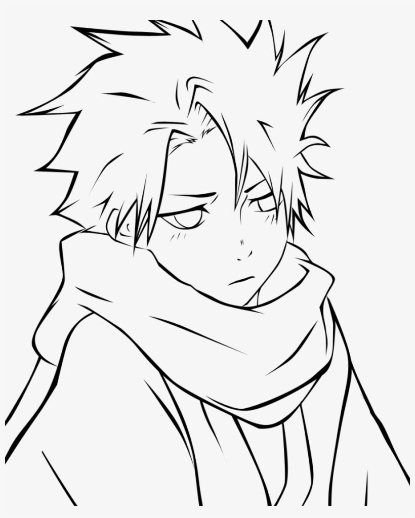 Anime Boys Coloring Pages - Coloring Home