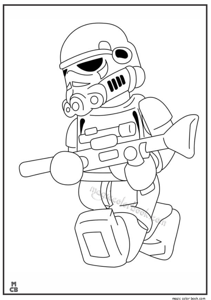 Lego Stormtroopers Coloring Pages