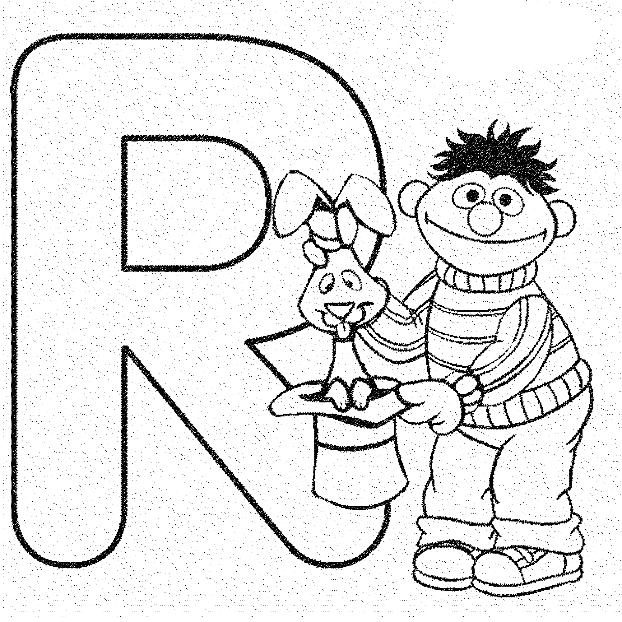 Free Elmo Alphabet Coloring Pages Coloring Pages