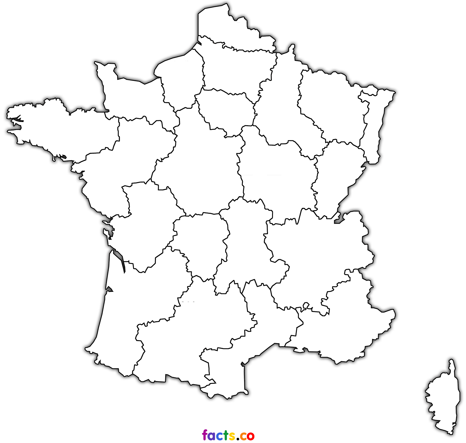 France Map Outline Coloring Home