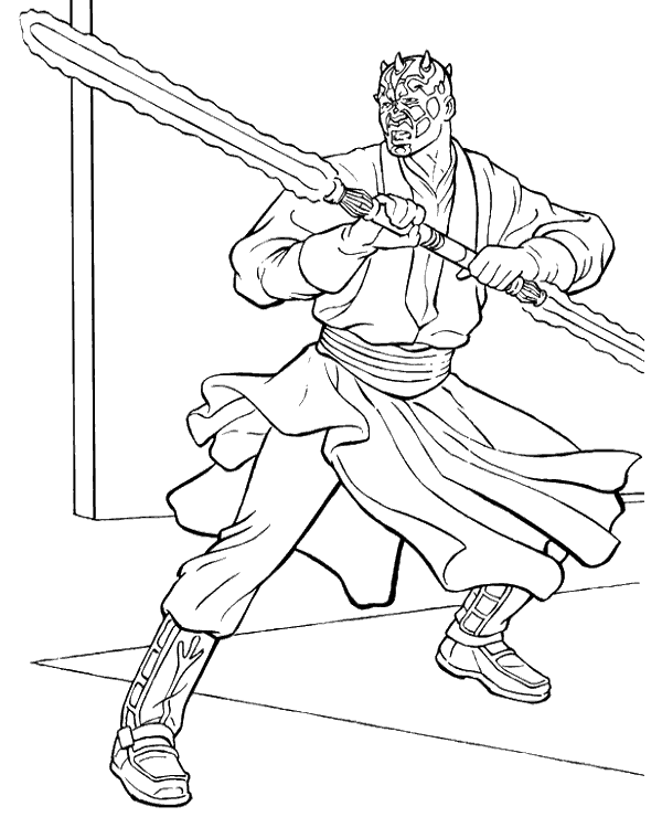 Darth Maul Coloring Pages - Coloring Home