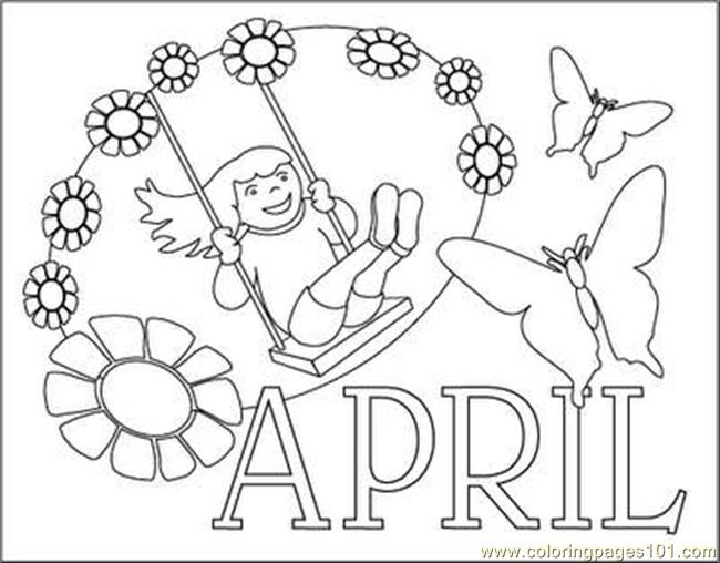 Coloring Pages For April Coloring