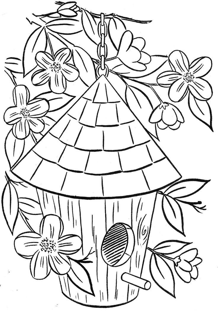 coloring book pages house - birdhouse coloring page coloring home
