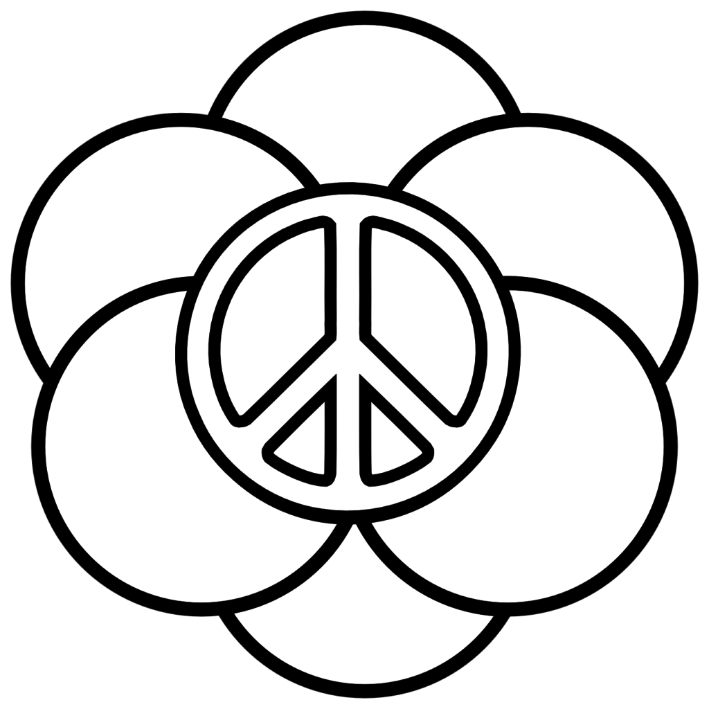 peace sign coloring page