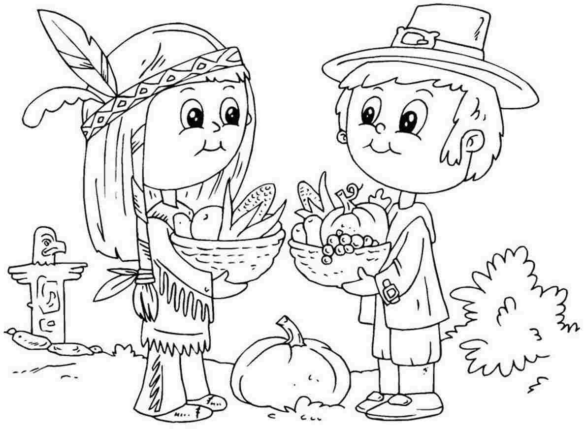 free coloring pages for adults thanksgiving : Thanksgiving Pilgrims Coloring Pages For Kids And For Adults