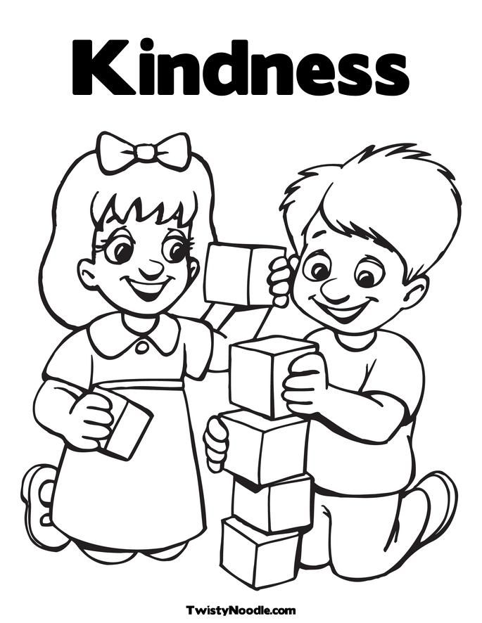 coloring pages acts of kindness - kindness coloring pages coloring home