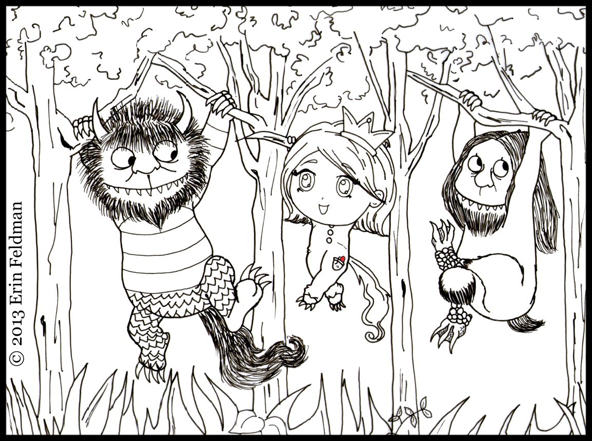 where the wild things are printable coloring pages home