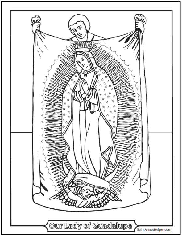 lady of guadalupe coloring pages-#4