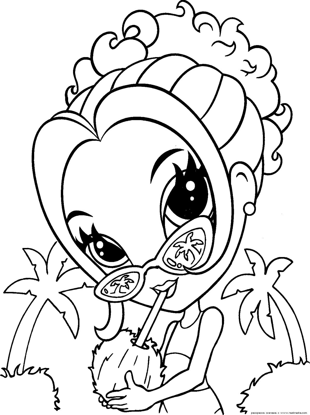 lisa frank free coloring pages - photo#12