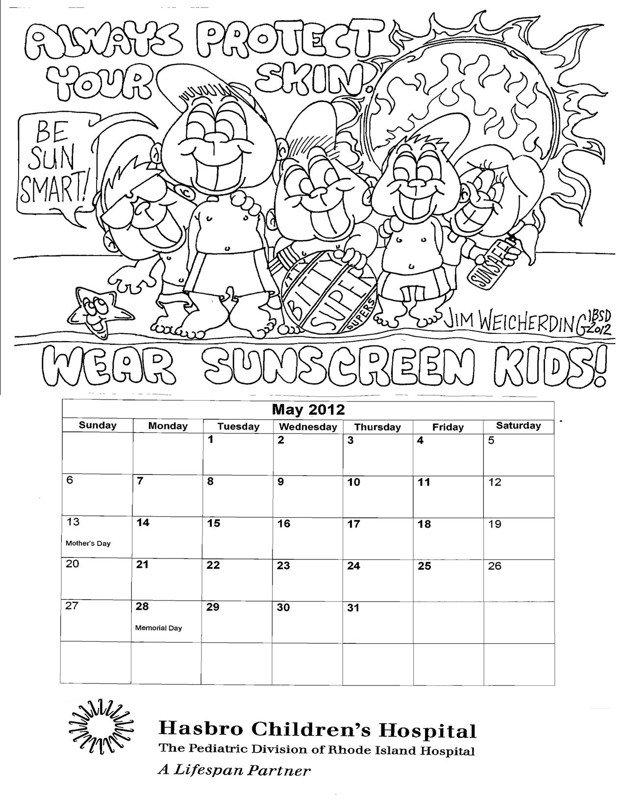 sunsmart coloring pages - photo#2