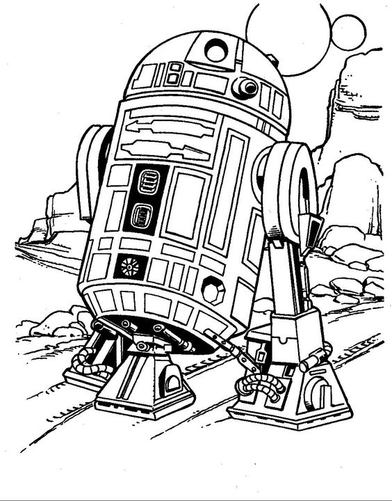 r2d2 coloring pages - photo #44