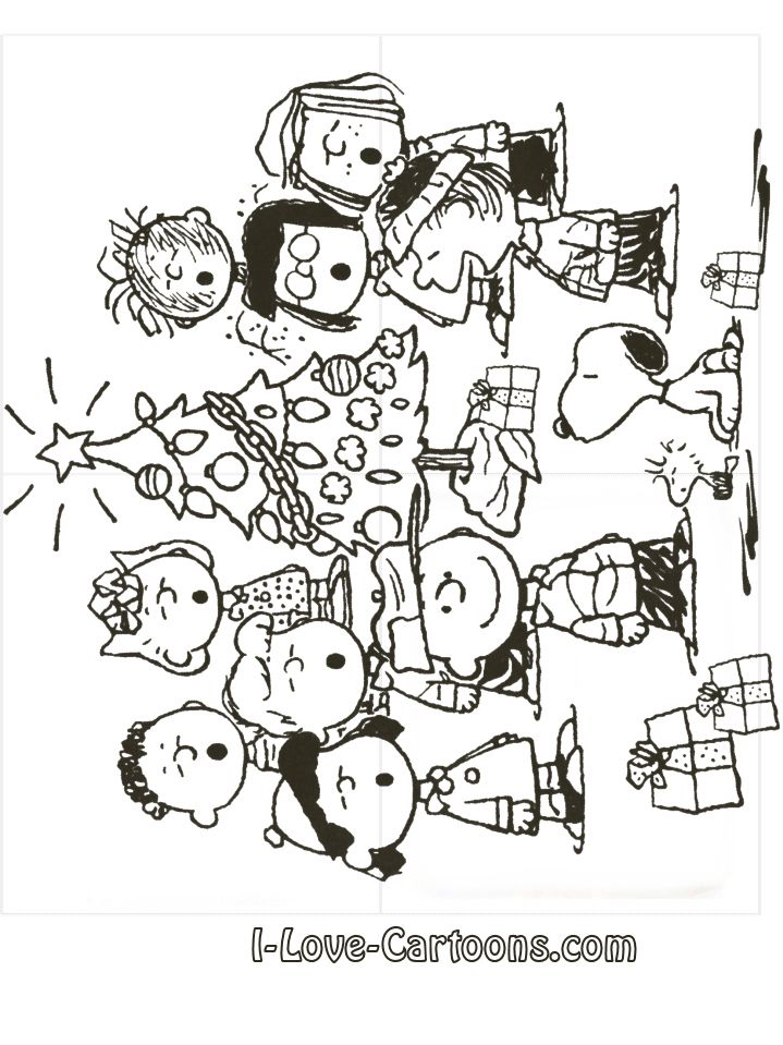 A Charlie Brown Christmas Coloring Pages Charlie Brown Christmas ...