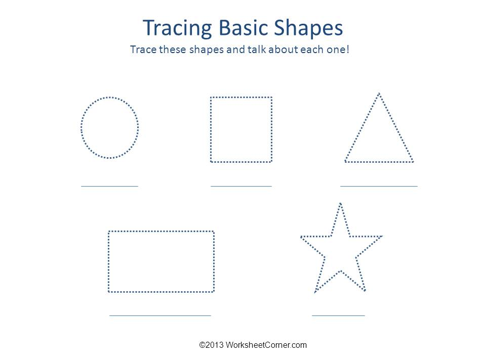 Tracing Basic Shapes Printable Worksheet