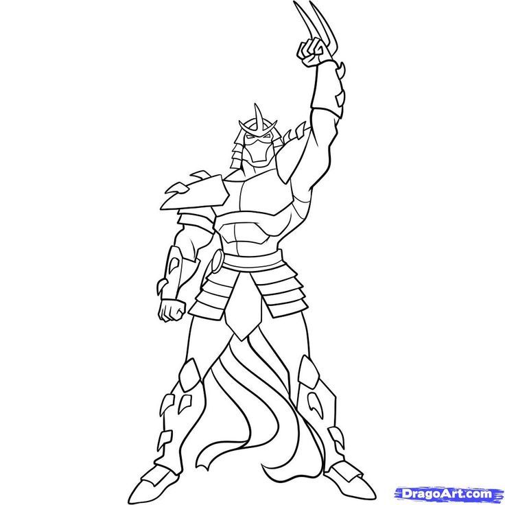 All Shredder Coloring Pages  Coloring Pages For All Ages