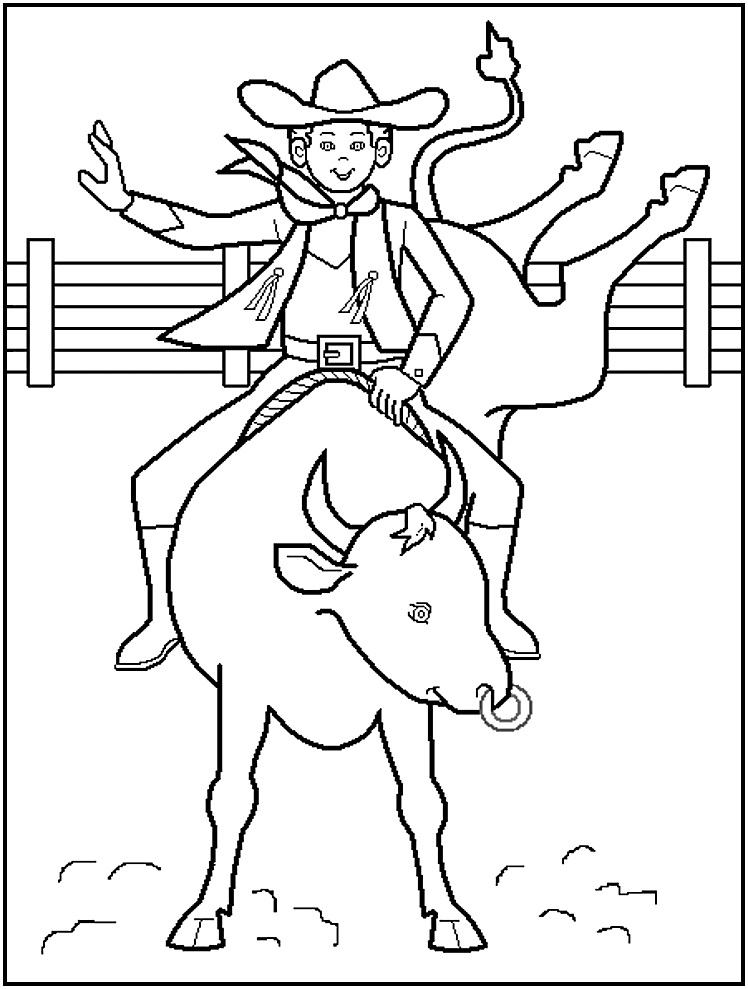 Cowboy Coloring Pages To Print | So Percussion
