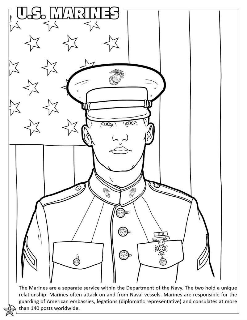 marine corp coloring pages - photo#4
