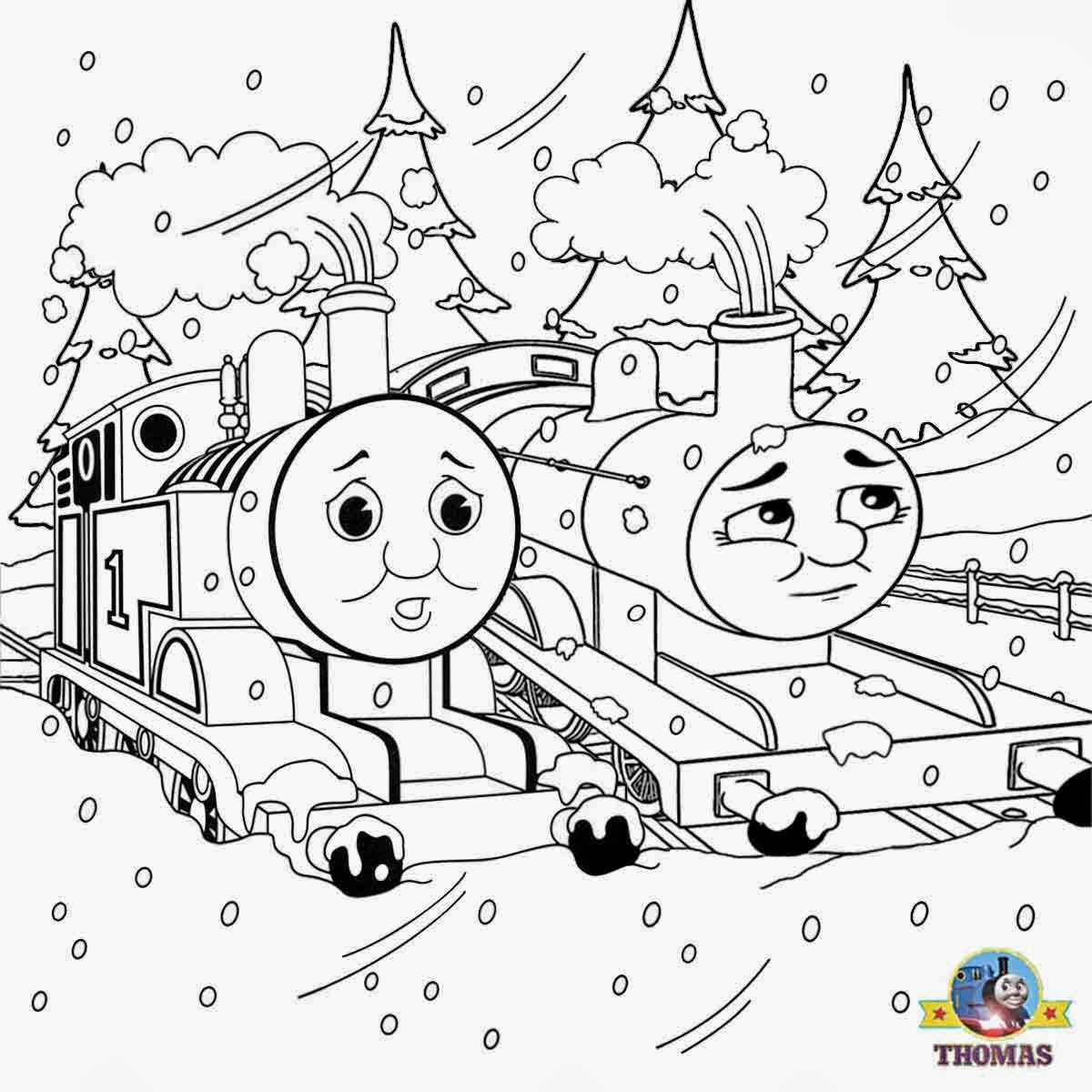 - Thomas The Train Coloring Pages Printable For Free - Coloring
