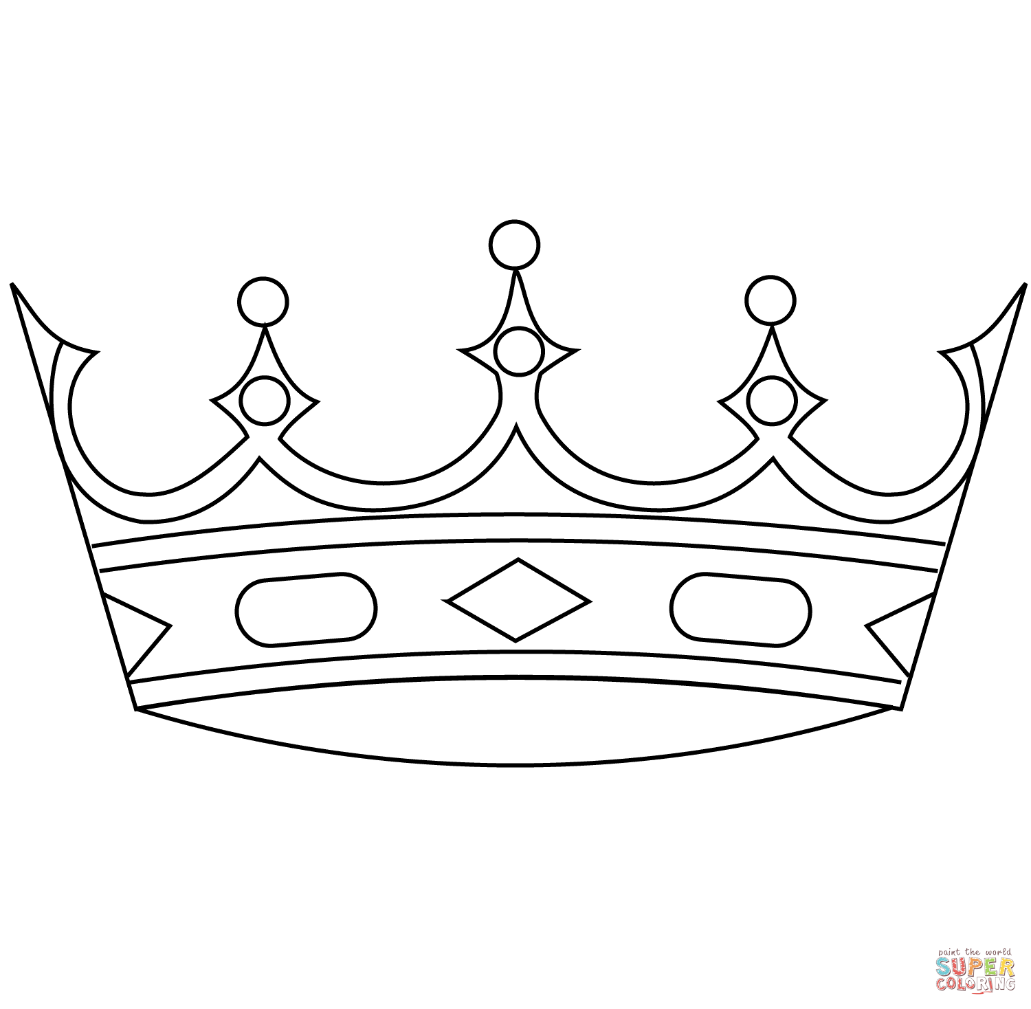 Crown coloring page | Free Printable Coloring Pages