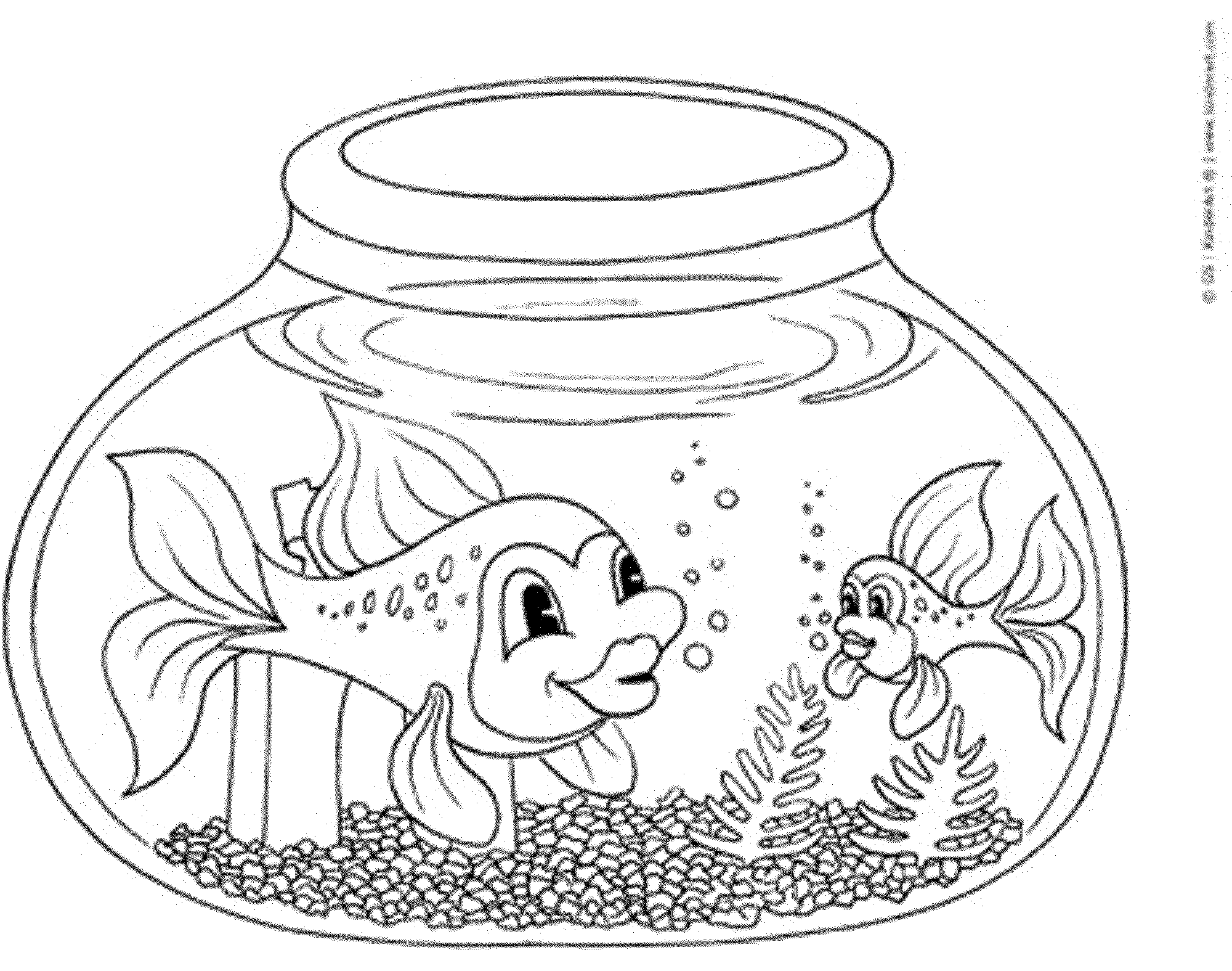 Fish bowl coloring page printable coloring home for Printable fish coloring pages