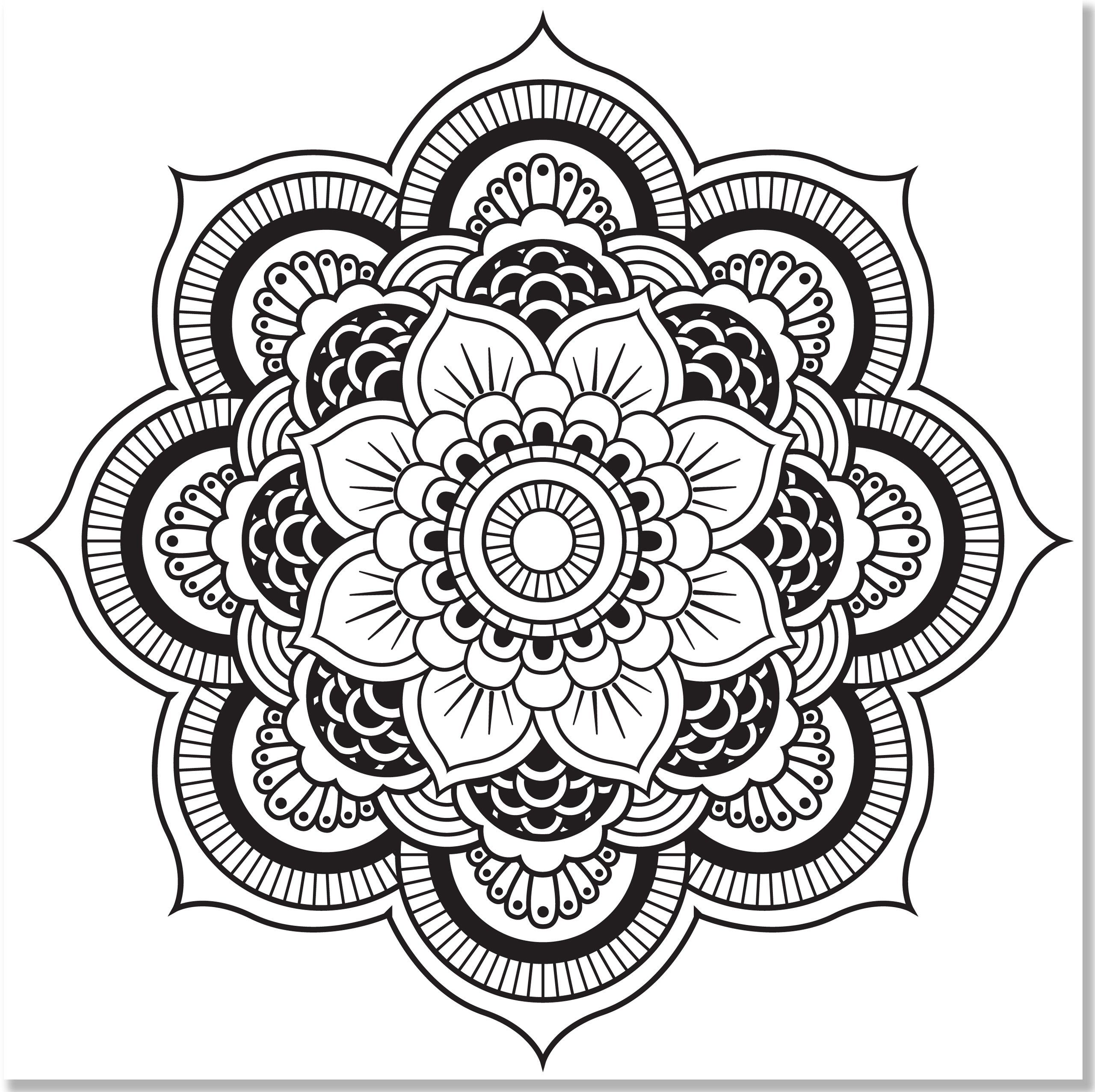 advanced mandala coloring pages printable - photo#16