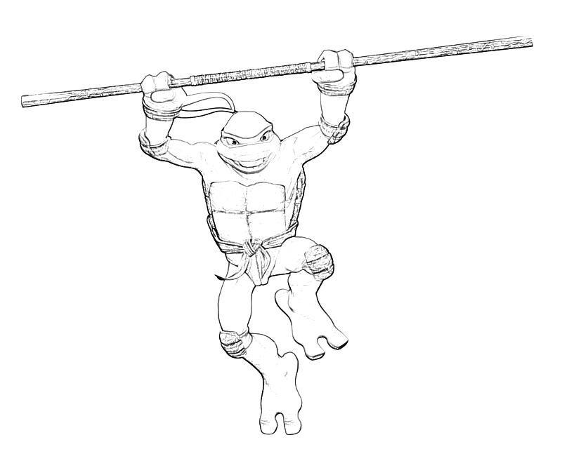 Donatello Ninja Turtle Coloring Pages Donatello Coloring Pag...
