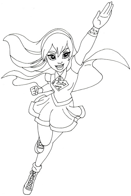 supergirl coloring pages printables - photo#4