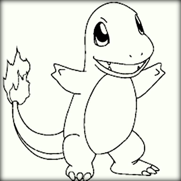 Pokemon Charmander Coloring Pages - Coloring Home