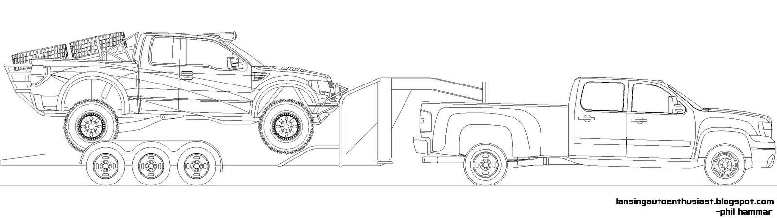 coloring pages silverado - photo#31