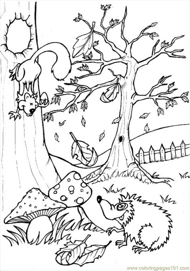 Forest Coloring Page For Children