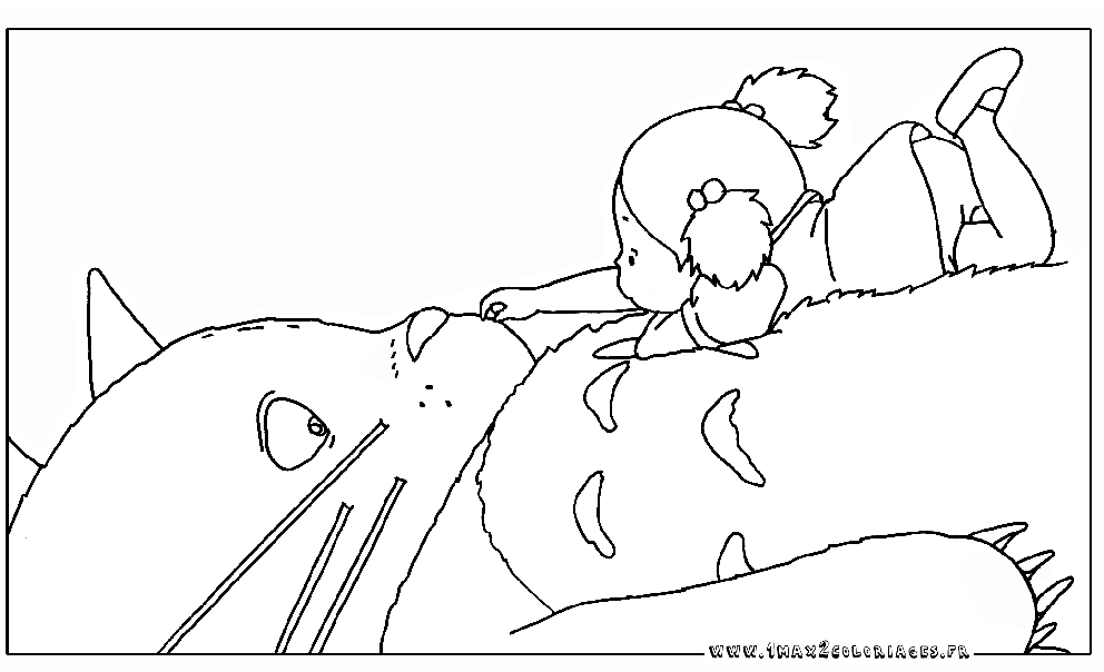 Totoro coloring pages to download and print for free