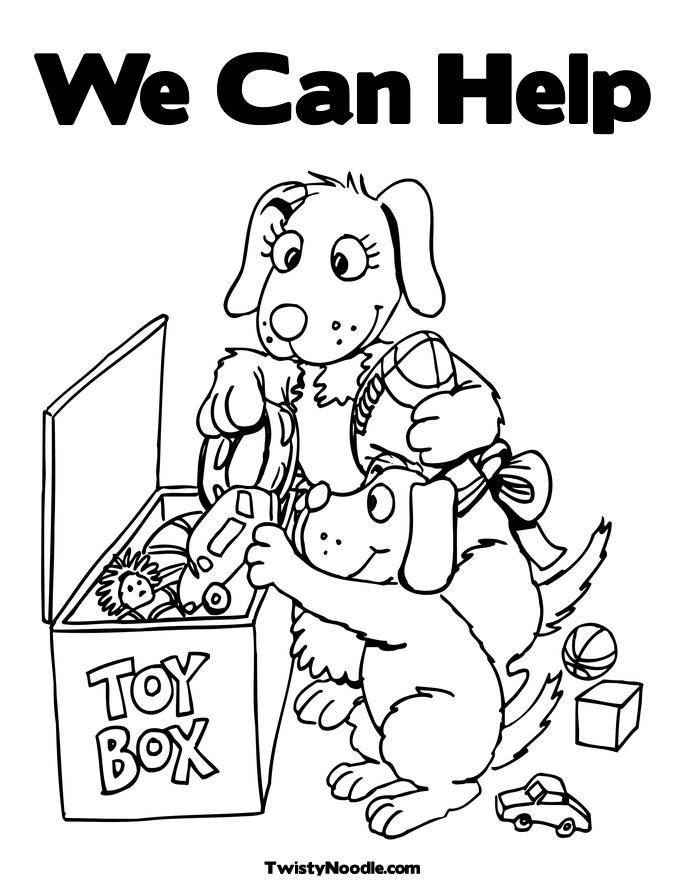 coloring pages children helping - photo#14