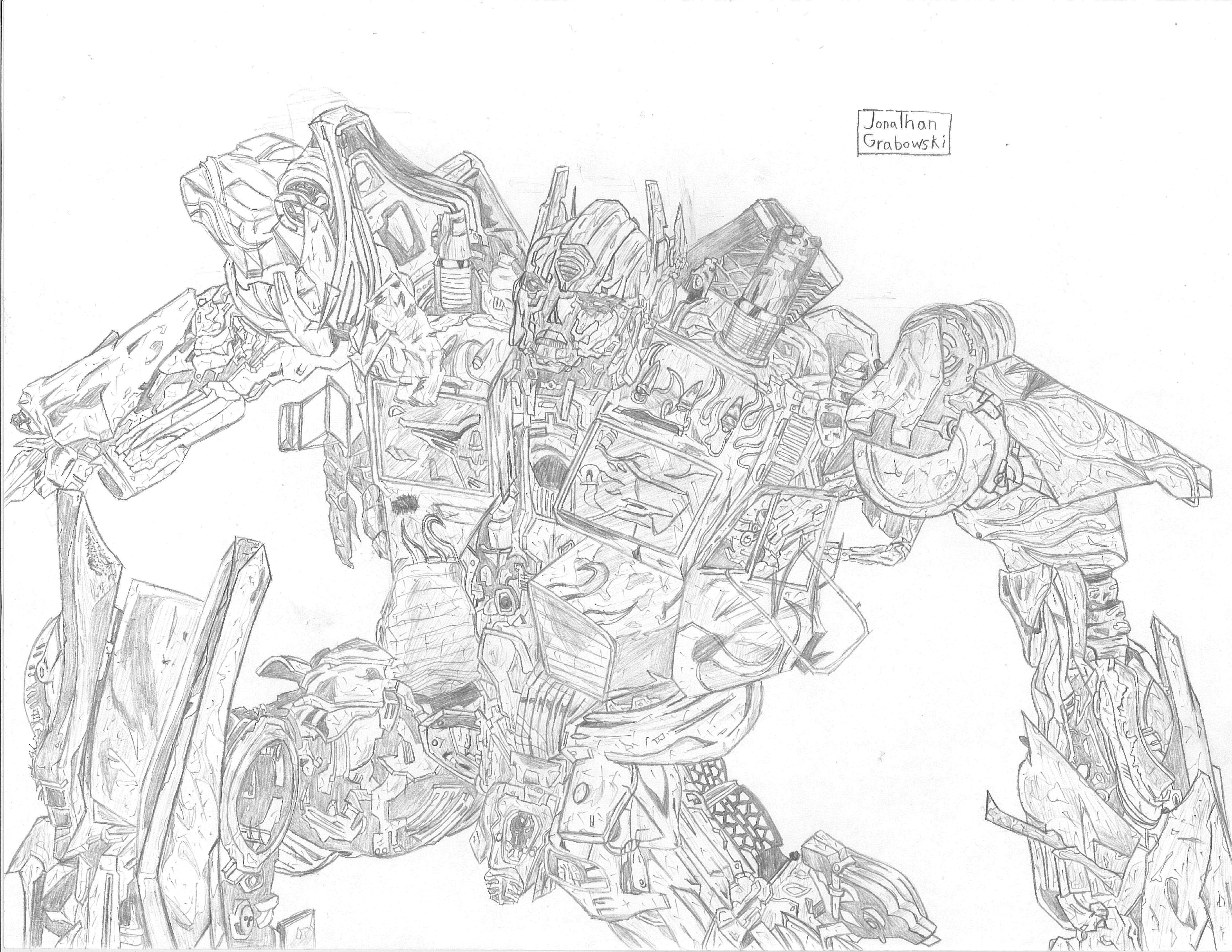 transformers 4 optimus prime coloring pages youtuf com