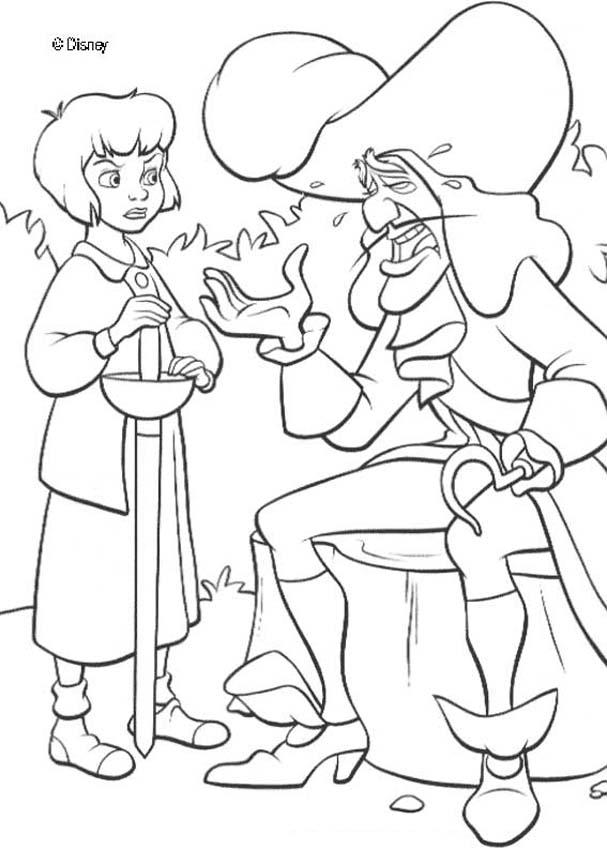 Captain Hook Coloring Page - Coloring Home