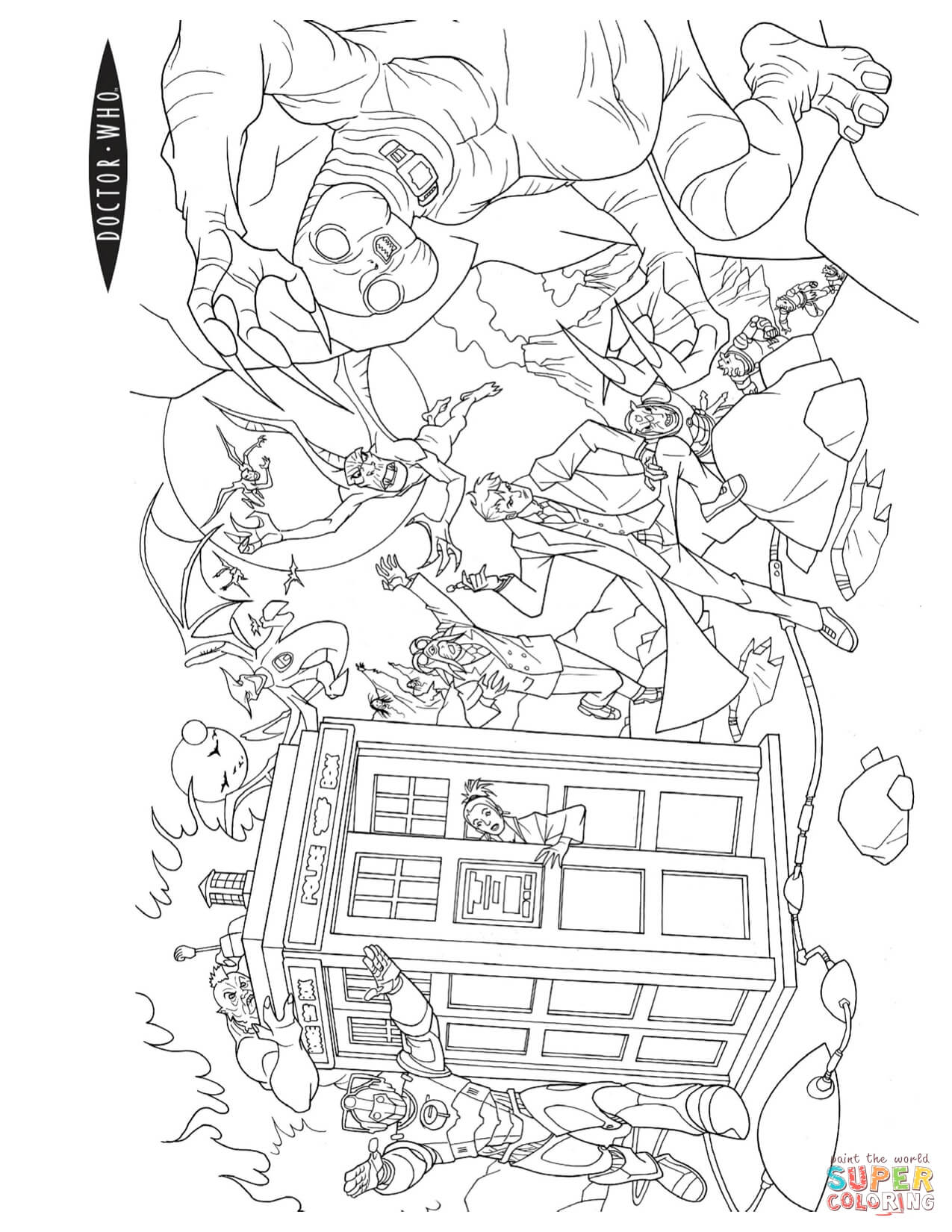 Doctor Who Coloring Pages - Coloring Home Doctor Who Coloring Pages Matt Smith