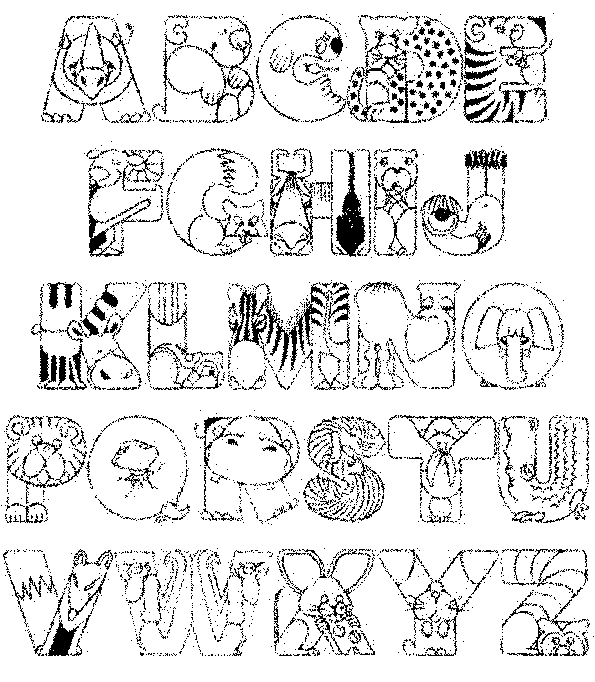alphabet letters coloring pages n - photo#35