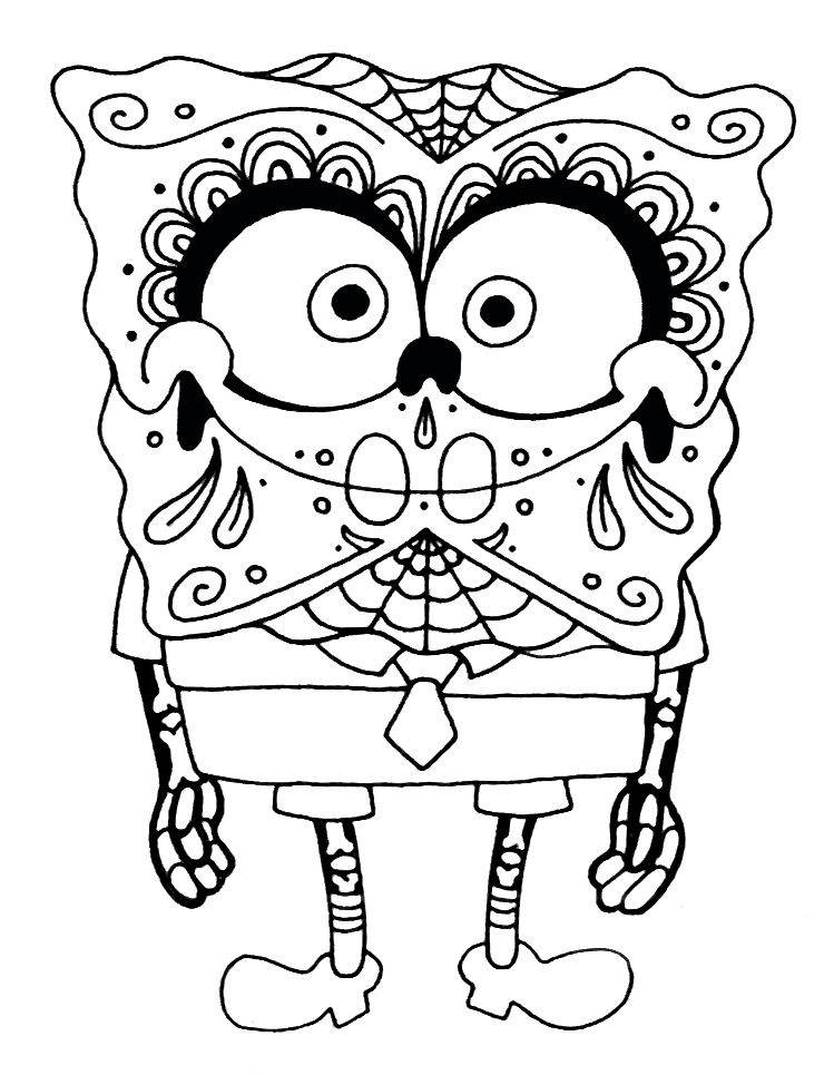 Sugar Skull Animal Coloring Pages - HiColoringPages