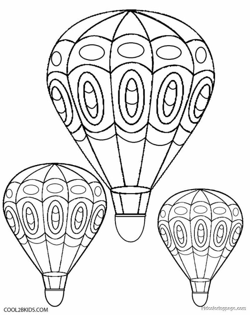 Free Printable Hot Air Balloon Coloring Pages | Free Coloring ...