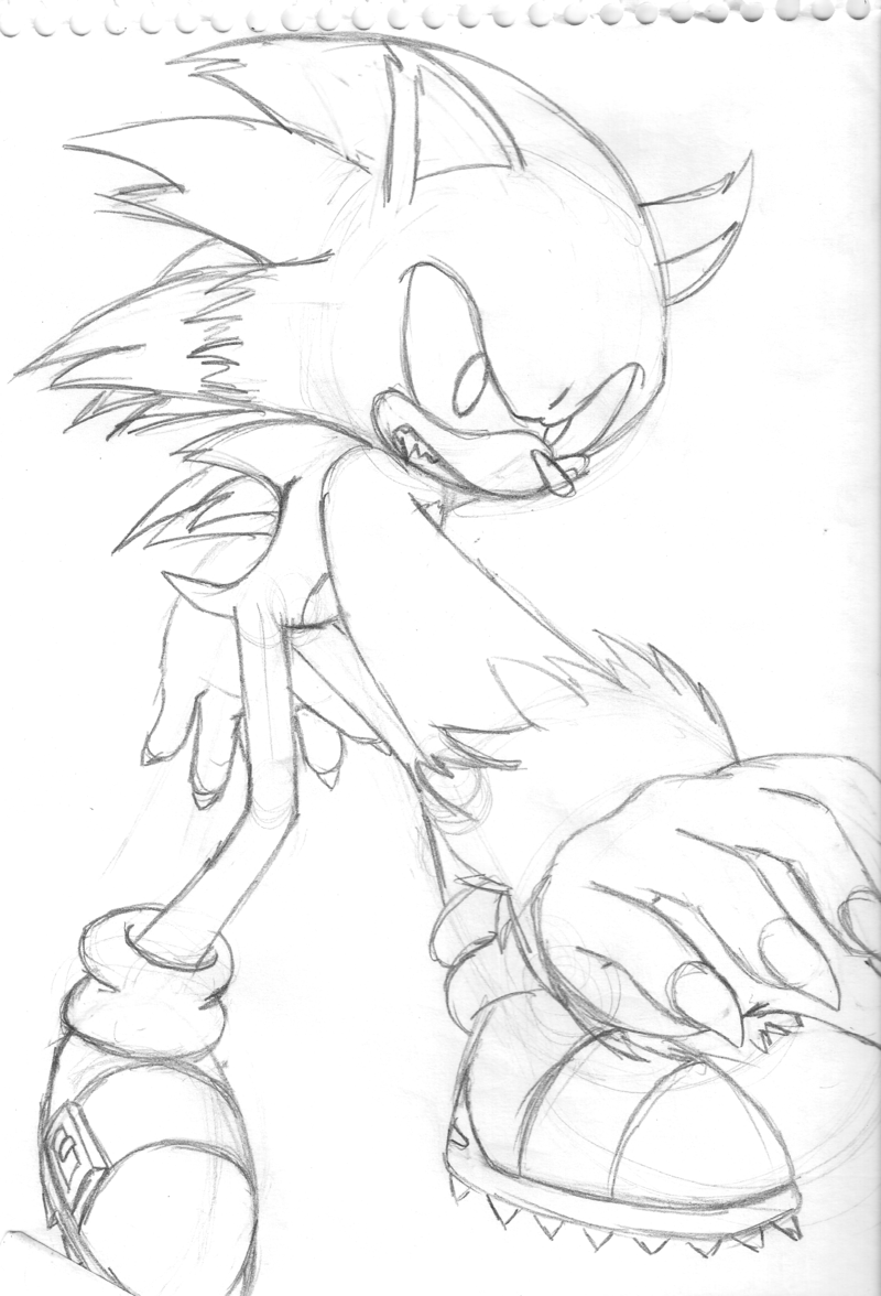 Sonic The Werehog Coloring Pages To Print Coloring Home