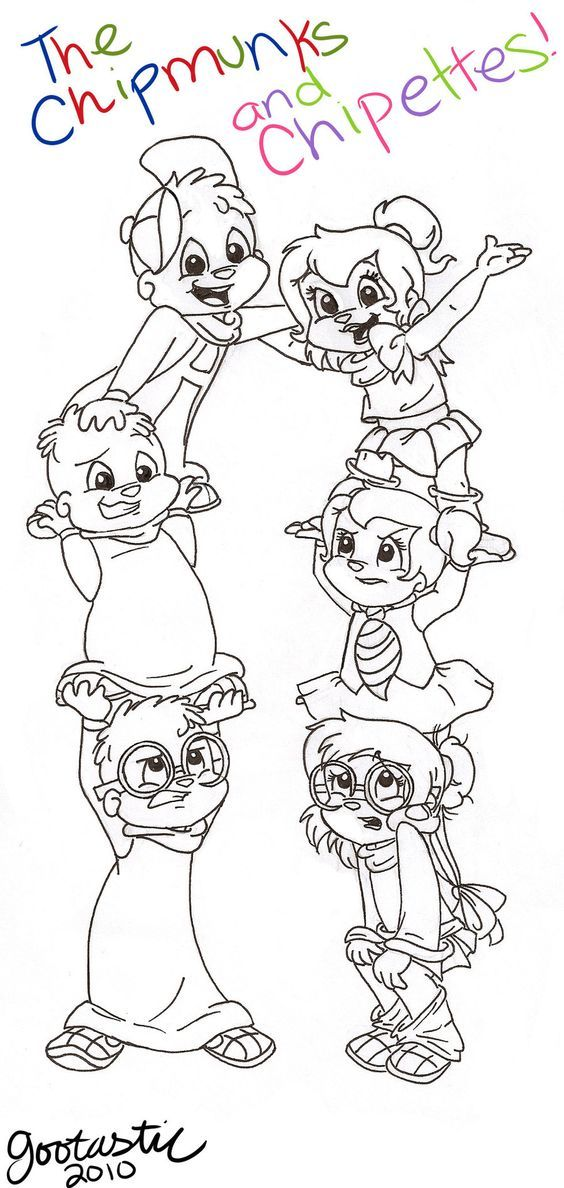 Chipettes Brittany Coloring Pages