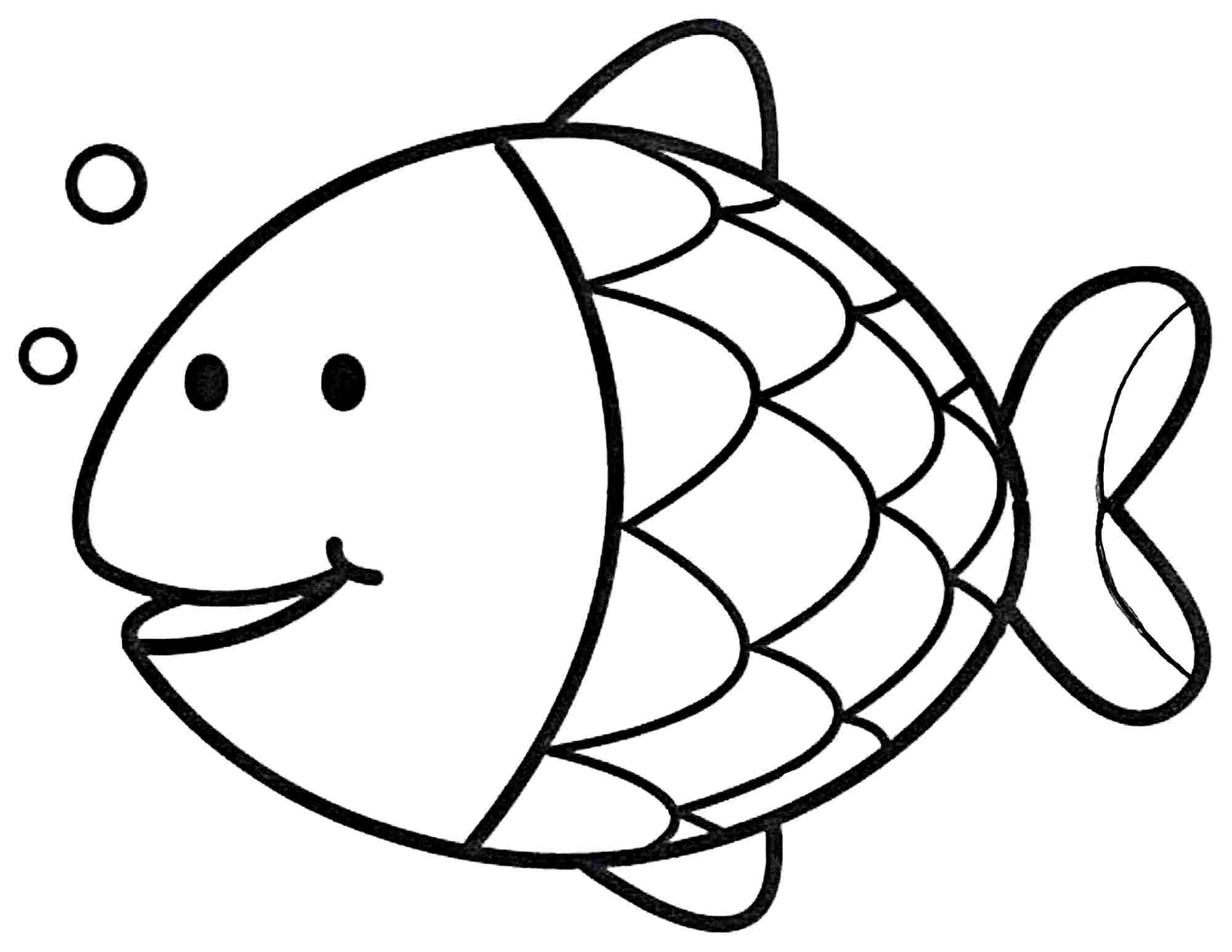 Simple Fish Coloring Pages - Coloring Home