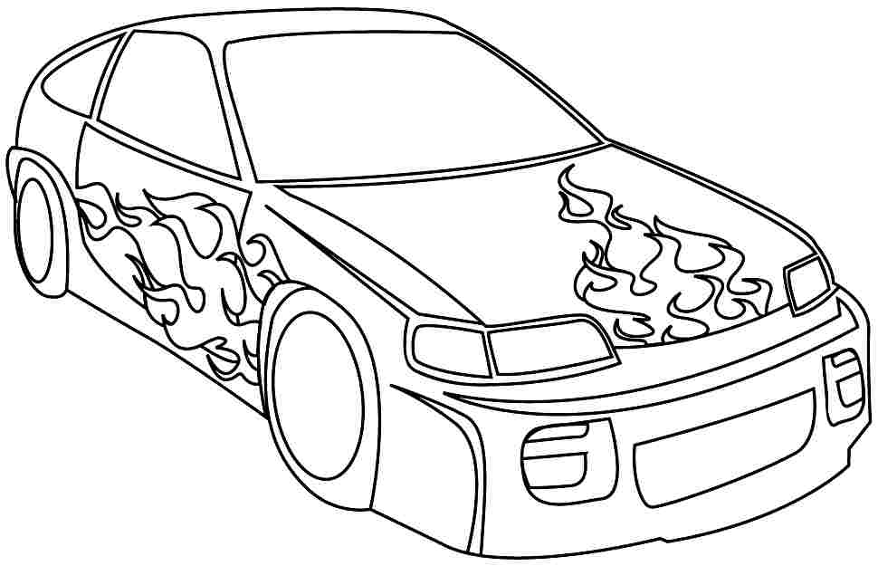 Printable Coloring Pages Of Sports Cars - Coloring Home