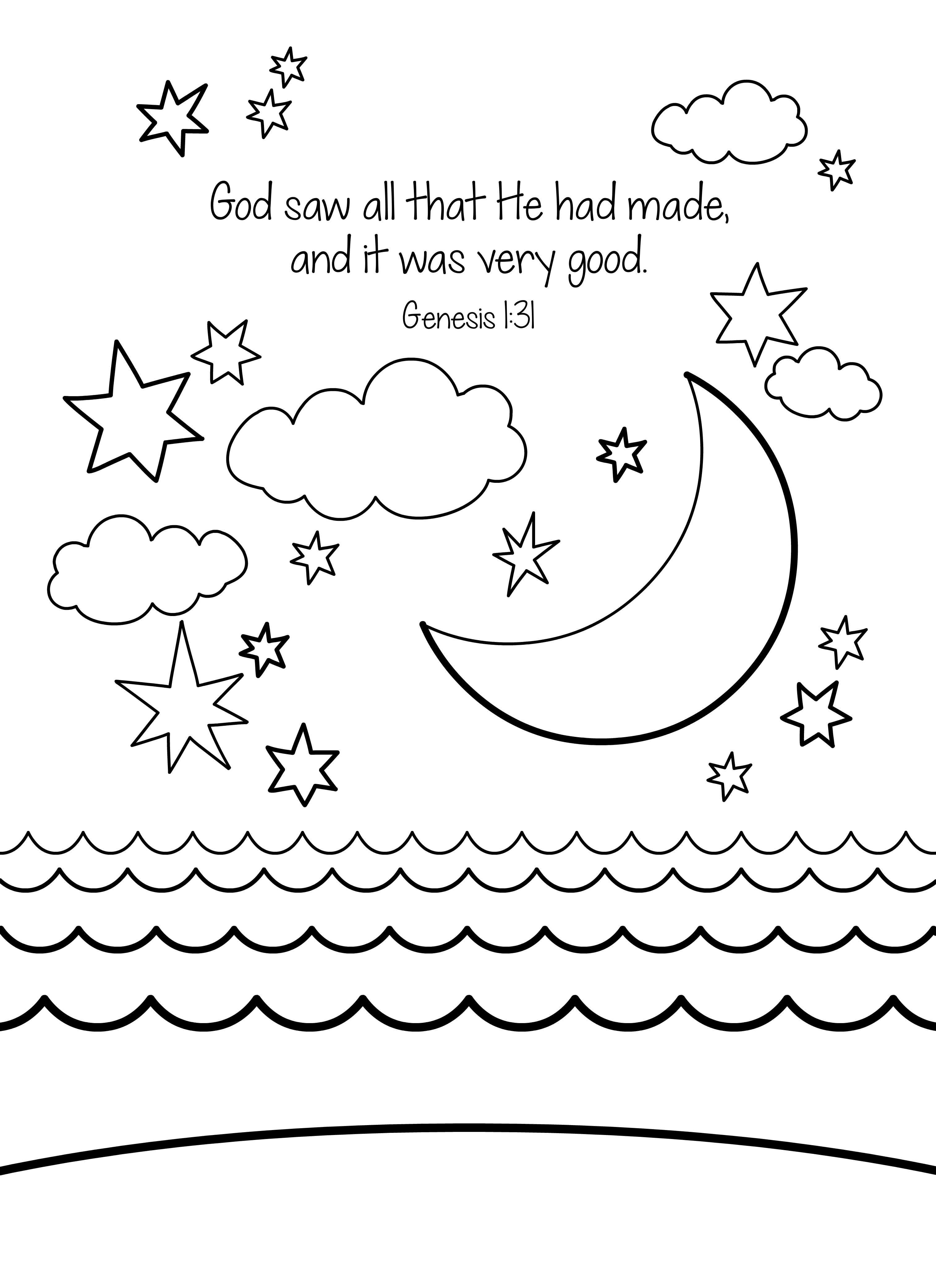 Coloring Pages For Creation Day
