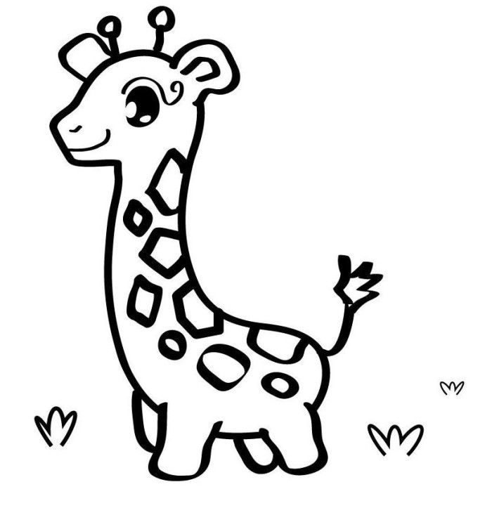 Baby Giraffe Coloring Pages For Girls Animals Printable | Animal ...
