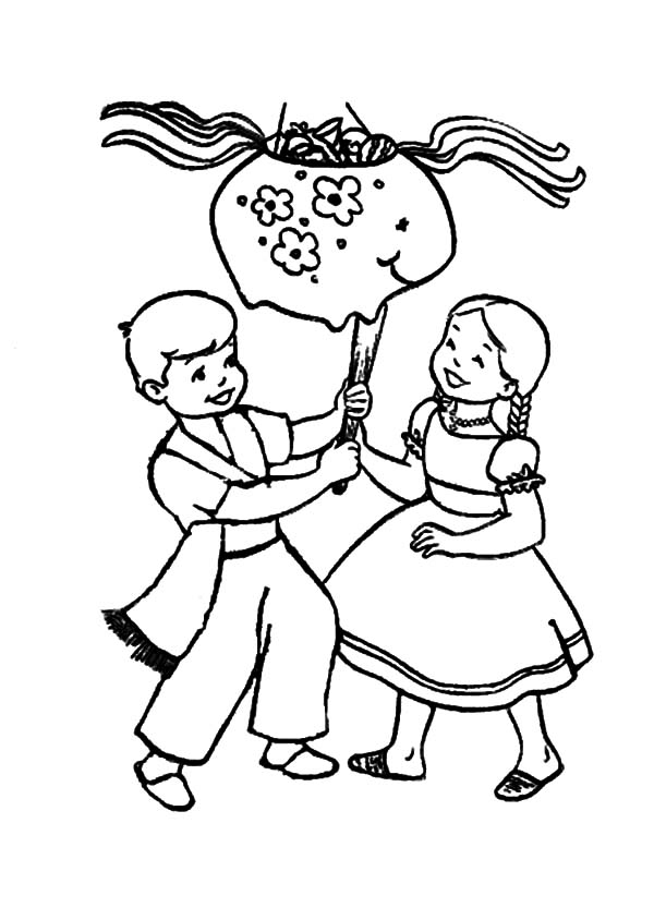 Mexican Dress In Cinco De Mayo Coloring Pages